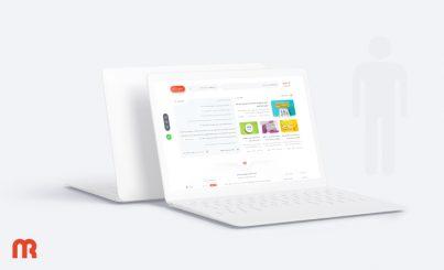 طراحی مجدد سایت بازرگانی مهر