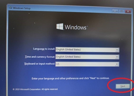 مراحل نصب ویندوز