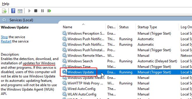 سرویس Windows Update